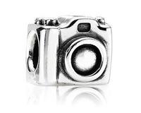 Min order $10 Free Shipping 1Pc Silver Bead Charm European Silver Camera Bead Fit BIAGI Bracelet H708