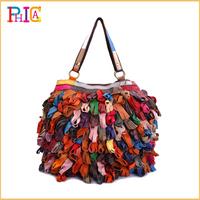 New 2014 Bohemia Women Handbags Genuine Leather 100% Fashion Handbag Ladies Shoulder Bags 1966