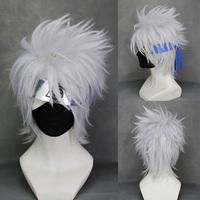 Masters naruto silver wig flag wood kakashi COSPLAY wig