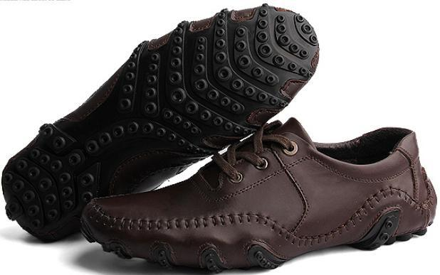 size38-43 Classic octopussy driving shoes.male genuine leather vintage retro finishing driver shoes.spring business shoe bt165 *(China (Mainland))