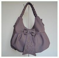 ladies' pu handbag,PU + hanging ornament,Size:40x27cm,four different colors,Two function(handbag/messenger bag),Free shipping