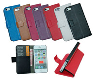 MIXED ORDER Mixed Colors Wallet Case with Credit ID Card Holder Leather Case For Different Mobile 100pcs/Lot DHL
