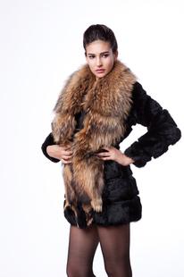 free shipping faux female  large raccoon fur rabbit  slim medium-long outerwear fur coat warm coat jacket clothes wholesale
