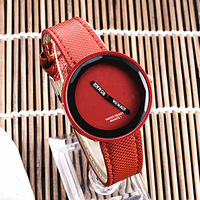 Wholesale High quality Quartz Leather Wrist Bracelet fashion No second hand Watch.free shipping