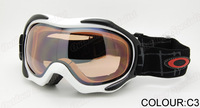 2013 new arrival all weather Unisex Snowboard Ski Goggle Double Lens AntiFog UV400 Protection CE Snowing Goggles OK925A-1