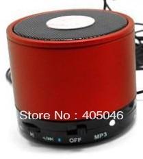 hot !red color  2013 new Fashion Mini Hi-Fi Player Bluetooth Wireless Stereo Speakers Speaker Loudspeaker Speaker
