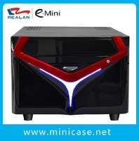 "REALAN Fashionable  Mini ITX  HTPC Case,Gaming Computer  Case E-X6 with Slots (SGCC 0.6mm&ABS, 3.5""HDD,3 Colors)"