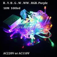 Free Shipping led string light 10M 100led 220V or 110V decoration light for home/party/Garden Waterproof outdoor lighting