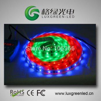 5050 RGB Digital led strip,HL1606 IC+SoftPixel DMX controller+Power 50W= full Set