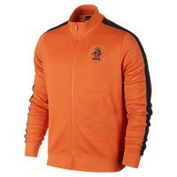 Netherlands 13 14 orange football winter jackets sponsor brand logo sports casual training coats soccer overcoat  Free Shipping