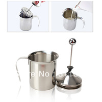 800mL Stainless Steel Double Mesh Milk Frother Cappuccino Milk Creamer Milk Foam