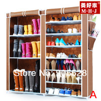 Hot sale New arrive 2013 Coffee colour Adjustable Shoe Storage / Ten Layer Shoe Cabinet / dustproof shoes rack Model A, B, C