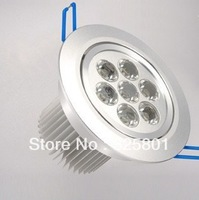 Free Shipping---7W led ceiling lights high quality high power Ceiling Recessed Lights ,down light housing