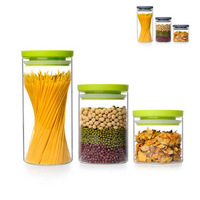 glass food tea container 3pcs/lot storage bottle free shipping candy jar,tea caddy