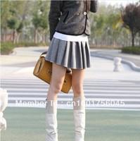 School Girl Mini Skirt Keep Warm Womens Ladies Wool Pleated  Good Quality New  Hot  Sell Grays x 1pc