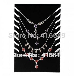 Free Shipping,Wholesale 4pcs New Black Velvet Necklace Easel Showcase Holder Jewelry Display Stand