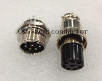 Free Shipping 5pair Male & Female Diameter 16mm Wire Panel Connector GX16 8 PIN GX16-8PIN circular connector Socket Plug
