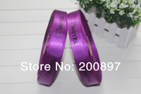 Custom logo printed polyester ribbons gift package decoration ribbons with own logo 100yards/lot
