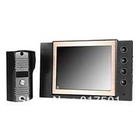 Free shipping 8 inch LCD Video Door Phone Doorbell Night Version Intercom Home Security Video system Work Under Zero Degree