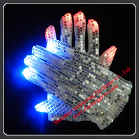 Wholesale Silver Sequin Led Gloves in China