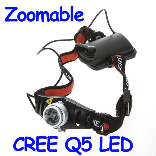 Hot Sale! Ultra Bright 500 Lumen CREE Q5 LED Headlamp Headlight Zoomable Head Light Lamp, Free Shipping Wholesale(China (Mainland))
