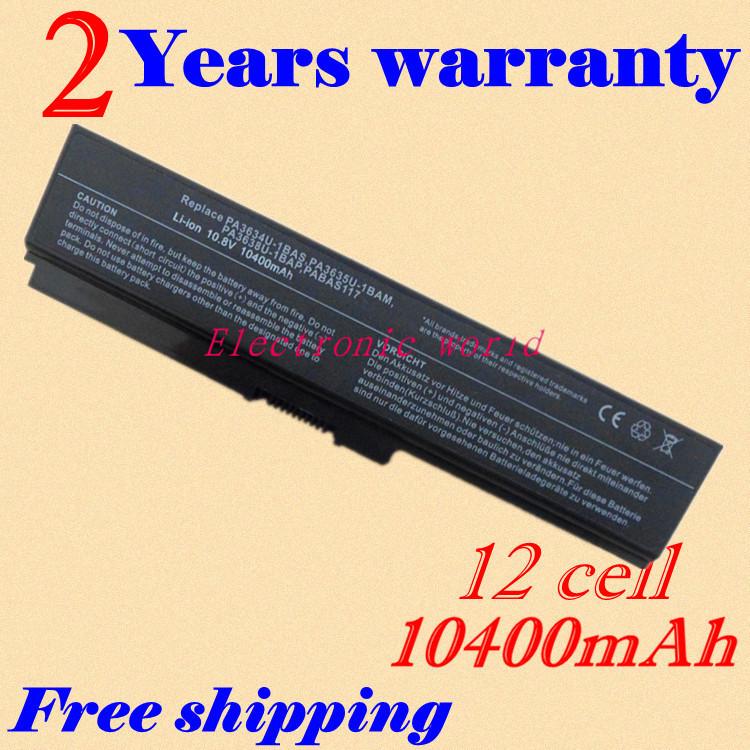 New 8800 mah laptop battery PA3638U-1BAP PA3728U-1BRS PA3818U-1BRS PABAS117 For Toshiba Equium U400(China (Mainland))