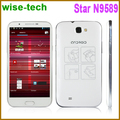 2013 new model! 5.7inch Star N9589 MTK6589 Quad Core Smart Phone IPS Screen android 4.1 OS 1GB RAM 4GB ROM Dual Camera/emma