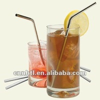 Free shipping TL0021 500PCS  stainless steel bent drinking straw