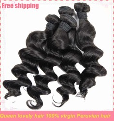 all princess virgin hair beauty peruvian natural wave hair fashion human hair 16 18 20(China (Mainland))