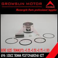 GY6 100cc Piston kit (50mm STD, +0.5,+1.0)  for QMB139 Scooter SUNL, Roketa, NST, Baotian,Keeway,JCL,  Taotao, ATV Motors