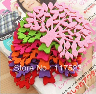 Colorful Felt Tree Design Cartoon Cup Mat Sweet Cup Pad Coaster Cup Cushion Cooking Tools Free Shipping