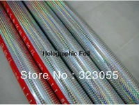 Holographic Square Pattern Hot Stamping Foil Paper Bussines 0.7X131yds(0.64x120m)/roll