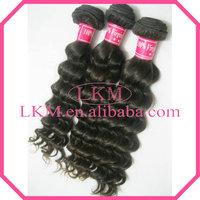 Free Shipping (Mixed Lengths 4pcs/lot) Grade AAAAA Natural Raw Peruvian Hair Weaving Virgin Deep Wave Hair