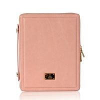 Luxury leather handbag for ipad 3 / 2 with retail package Smart cover for ipad 2 with handle hard case with Zip Pouch