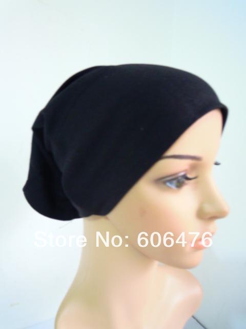 mu1202 Single packing muslim women's inner hat cotton muslim hijab high quality under scarf 20pcs/lot Free shipping by FEDEX(China (Mainland))