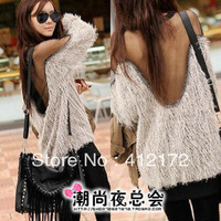 off the shoulder neck halter t shirt for women summer dolman tops punk evening dress fashion sexy sheer  2013 spring new
