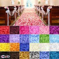 100pcs/bag Silk Rose Flower Petals Leaves Wedding Table Decorations 23Colors