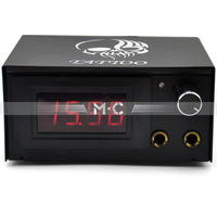 New LCD Digital Tattoo Power Supply Machine Flame Black - Gy008 free shipping - wholesale