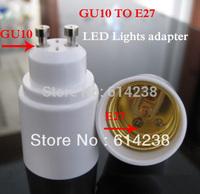 Free shipping ABS Led Lamp Bases GU10 Socket GU10 TO E27 Adapter Converter Base holder socket for LED Light Led Lamp