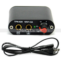 Black Mini Alloy tattoo power supply with power cord plug for tattoos machine guns to work free shipping - wholesale