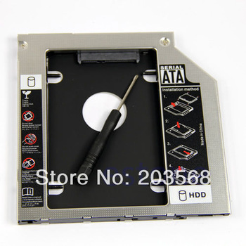 "D19Universal 9.5mm 2.5"" SATA 2nd HDD Hard Driver Caddy For CD DVD Optical Bay+Free Shipping"