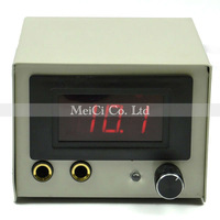 New White Iron Casing LCD Digtal Display Tattoo Power Supply with plug clip cord free shipping