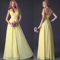 Free Shipping GK Chiffon V-neck Dresses  Gown Cocktail Wedding Party Dress CL3462