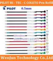 Free Ship Original Japan PILOT 0.5mm pen refill HI - TEC - C COLETO superfine can change cartridge / refill, 10color pen refill