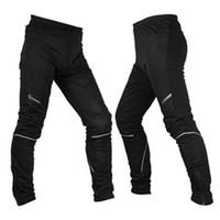 ROSWHEEL Fleece Thermal Winter Cycling Pants Bike Windproof Tights Men's Sportswear Racing Bike Compression Leisure Pants
