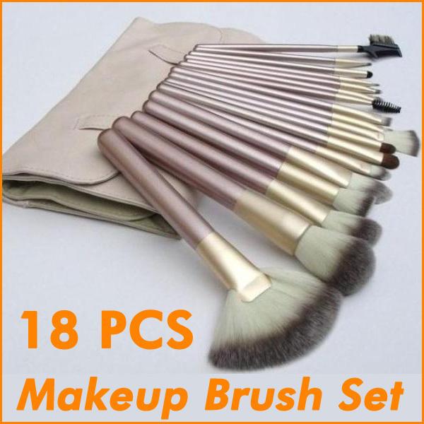 18pcs Kits New Professional Cosmetic Brushes Makeup Set Makeup Tools Multi-functional Quality Brush(China (Mainland))