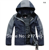 HOT ! High quality fashion men's coat + fleeces bladder outdoor sports jacket charge clothes / Free shipping
