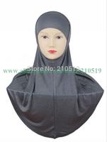 FA004 Newest 2014 high quality ISLAMIC HIJAB al amira 2pcs solid color softy mercerized cotton TWO piece MUSLIM HIJAB