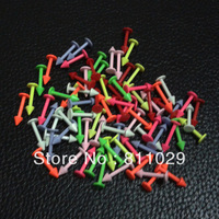 free shipping Hot Fashion Charm Gauges neon colors spike 40pcs 16G 3mm surgical Stainless Steel piercing labret piercing