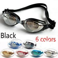 Adult Swimming Goggles Swim Glasses Water Sportswear Anti Fog Uv protected Waterproof Adjustable Nose Black DL603-1 CLEACCO